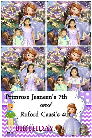 Primrose Jeaneen 7th and Ruford Caasi 4th Bday