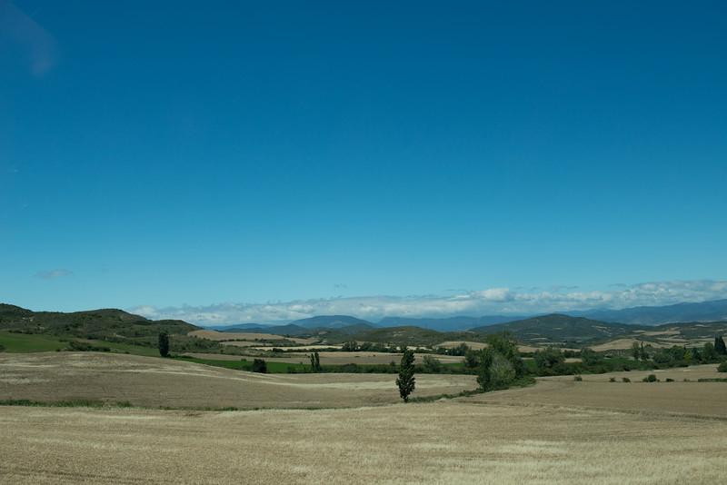 Plains near Jaca, Spain