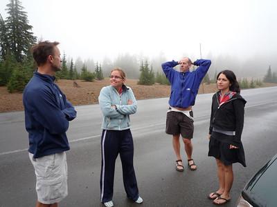 Ice Fishing Crater Lake September 2009