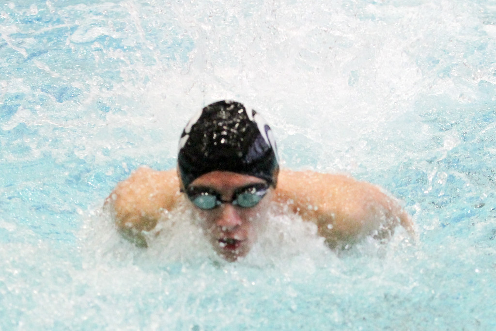 . Barry Booher - The News-Herald Kyle Silver ( Riverside ) 200 yard medley relay.