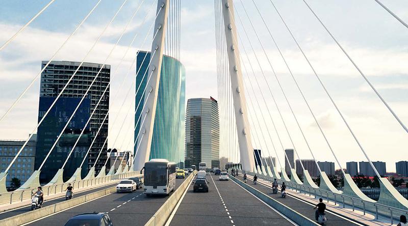 Thu Thiem 2 Bridge lanes