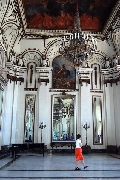 Inisde the Presdiential Palace hall of mirrors - Lou Tucciarone