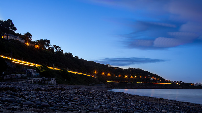 Killiney Beach at dusk