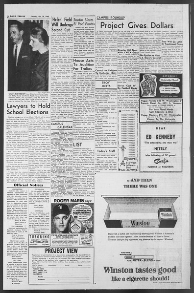 Daily Trojan, Vol. 54, No. 19, October 18, 1962