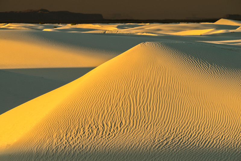 First Light on Large Dune