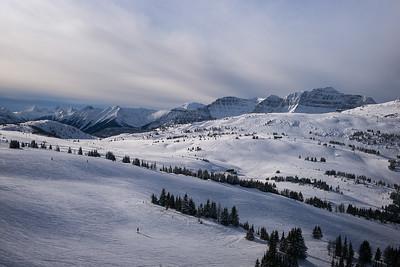 Skiing in Sunshine Village in Banff