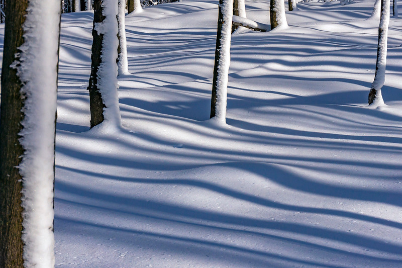 skiBromont neige  ombres