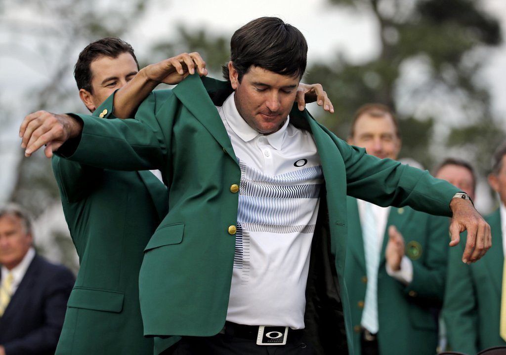 ". <p><b> Television ratings for the 2014 Masters were down substantially over the weekend, no doubt thanks to the absence of � </b> <p> A. Tiger Woods <p> B. Tiger Woods� fans <p> C. Tiger Woods� harem <p><b><a href=\'http://golfweek.com/news/2014/apr/15/masters-ratings-cbs-espn-drop-2014-bubba-watson/\' target=""_blank\"">HUH?</a></b> <p>   <br> <p><b>ANSWERS</b> <p> The correct answer is always \""A\"" ... unless you feel very strongly otherwise. <p> <br><p><i> You can follow Kevin Cusick at <a href=\'http://twitter.com/theloopnow\'>twitter.com/theloopnow</a></i>    (AP Photo/David J. Phillip)"