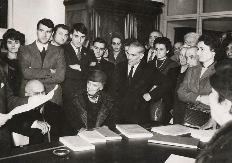 Alpignano, October 15, 1960. Inauguration of the new premises of the Tallone Press.
