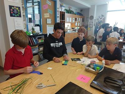 2nd Grade Visits 8th Grade Art