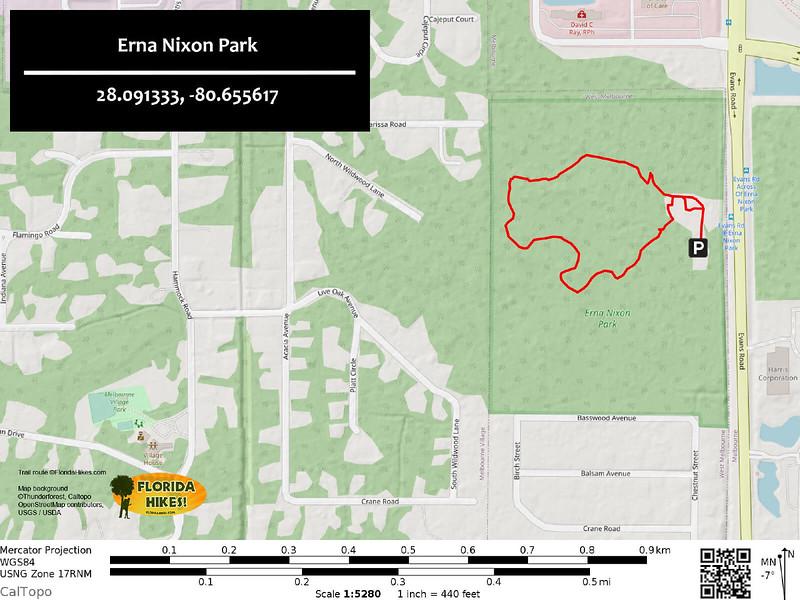 Erna Nixon Park Trail Map