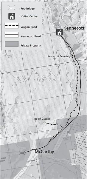 Wrangell-St. Elias National Park and Preserve (Kennecott Area - Wagon Road Trail)