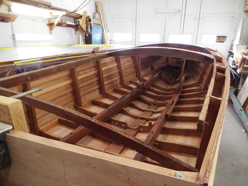 Inside view looking toward the bow.