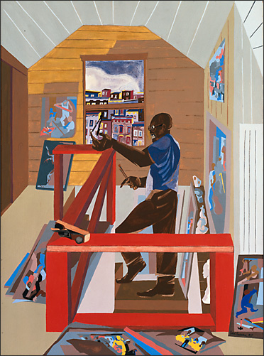 "Jacob Lawrence, ""The Studio,"" 1977"