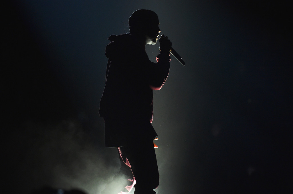 . Kanye West performs at the 57th annual Grammy Awards on Sunday, Feb. 8, 2015, in Los Angeles. (Photo by John Shearer/Invision/AP)