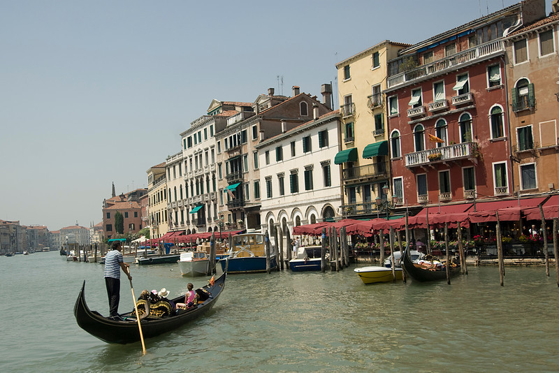 Gondolas at the Grand Canal in Venice, Italy