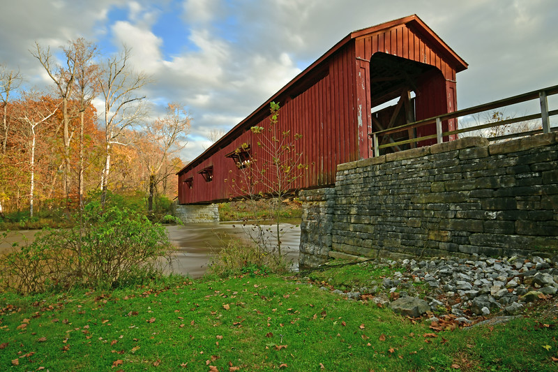 Covered Bridge at Upper Cataract Falls