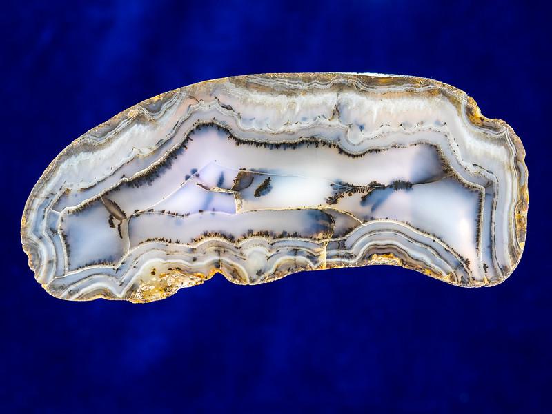 Agate (variety Balmorhea Blue), Reeves County, Texas
