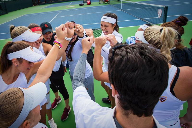 Stanford Women's Tennis defeats USC 7-0