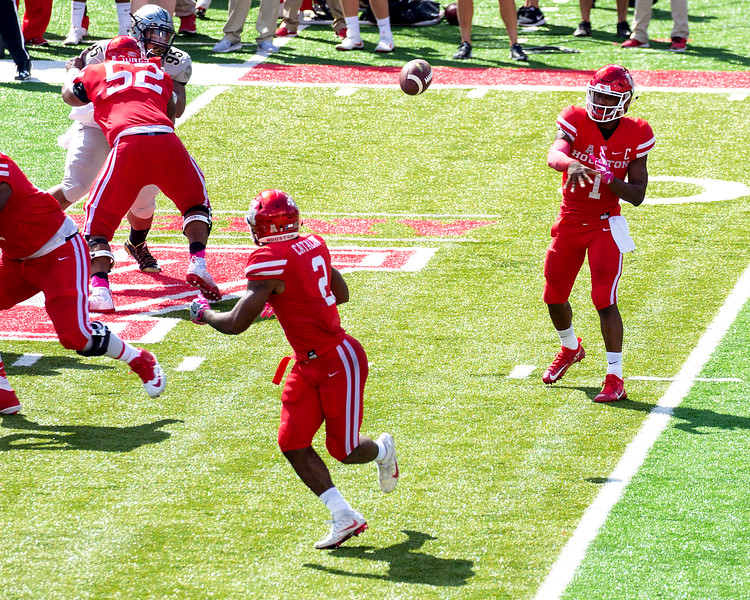 Here comes UH again:  Ward to Catalon for 4 yards.