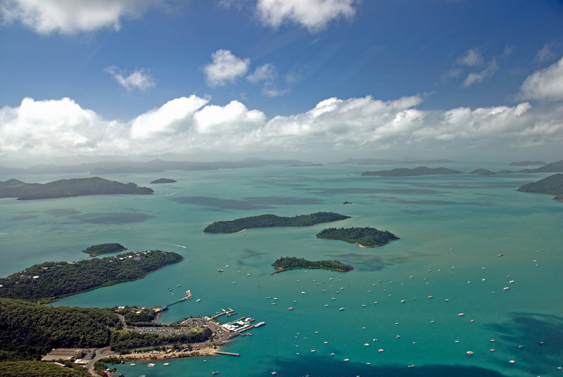 Shute Harbor Aerial 2, WhitSunday Islands - Queensland, Australia