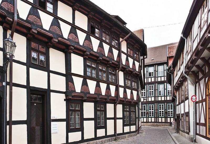 Quedlinburg: Fachwerk-Gasse