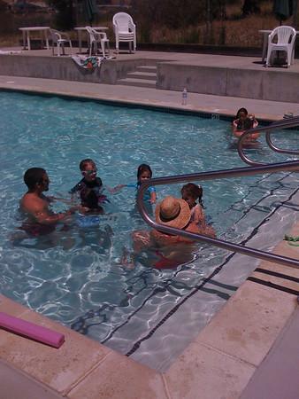 Hanna's first swim lesson: 7/6/09