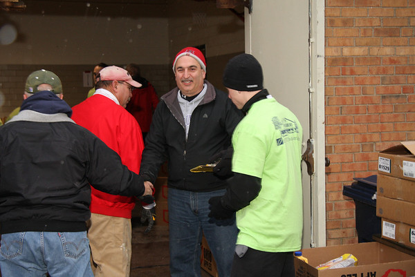 December 19, 2009, Brad Schwab leads Operation Food, for Vermilion area residents again !