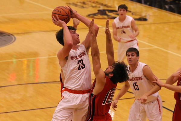 04 Boys Basketball:  South Webster at Wheelersburg 2016 (Varsity)