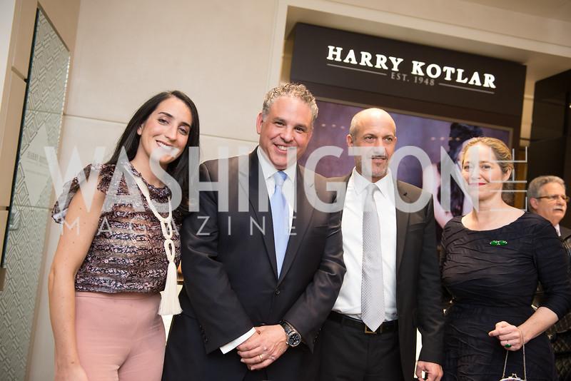 Catherine Trifiletti, Matthew Rosenheim, David Wiener, Nancy Bagley,  Harry Kotlar 70th Anniversary and Opening at Tiny Jewel Box. November 8th, 2018.  Photo by Ben Droz.