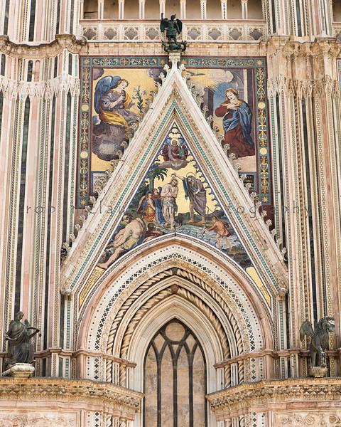 Baptism in the Jordan , Orvieto Duomo , Umbria