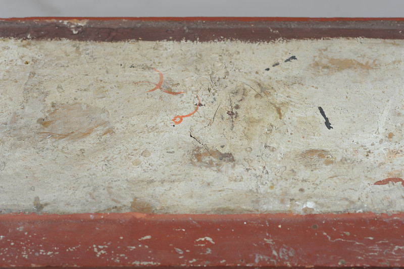 Vorzustand: Anna Altar, Predella, Ansicht von oben, Mitte AAF_1004_27-10-2011