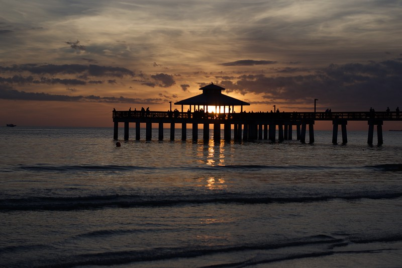 Fort Meyers Beach at Sunset, FL