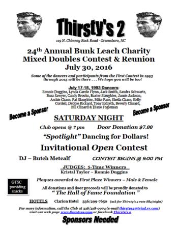 2016 Bunk Leach Memorial Mixed Dbls & Reunion