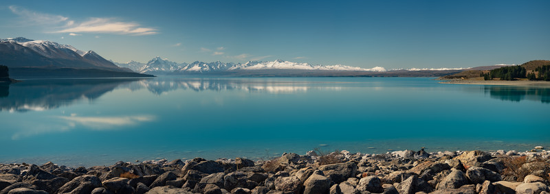 Setting for Wishes Panoramic || Lake Pukaki