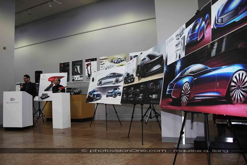 The 3 finalist designs for a modern interpretation of the Lincoln Mk II.