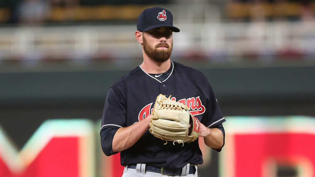 . Cleveland Indians pitcher Shane Bieber, making his major league debut, throws against the Minnesota Twins in the first inning of a baseball game Thursday, May 31, 2018, in Minneapolis. (AP Photo/Jim Mone)