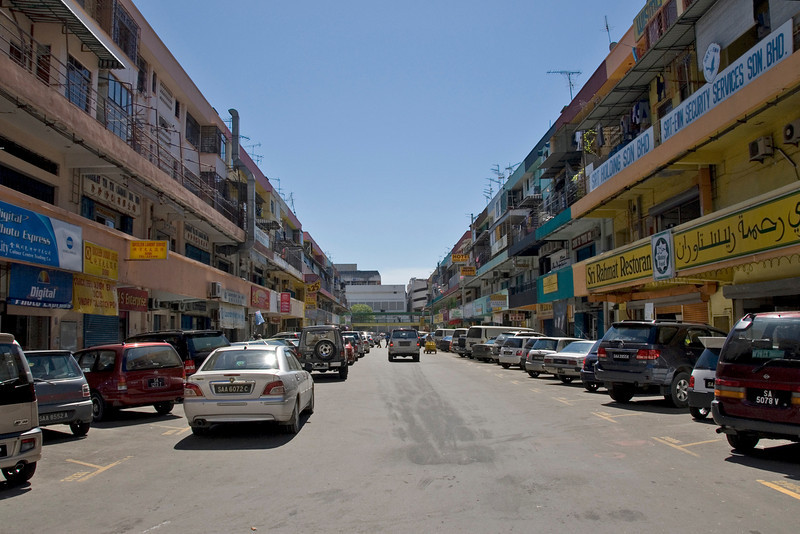 Busy traffic at a street in Kota Kinabalu, Sabah, Malaysia