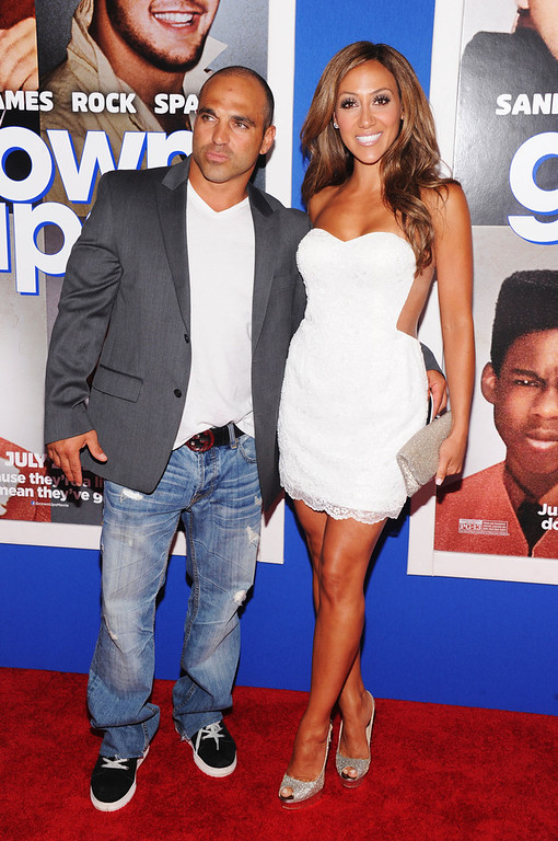 """. TV personalities Joe Gorga (L) and Melissa Gorga attend the \""""Grown Ups 2\"""" New York Premiere at AMC Lincoln Square Theater on July 10, 2013 in New York City.  (Photo by Jamie McCarthy/Getty Images)"""