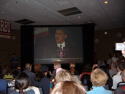 Obama National Win on TV- Reno hotel