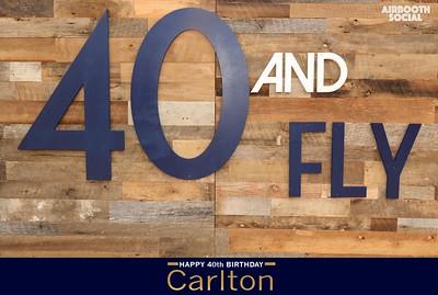 #CarltonIs40AndFly