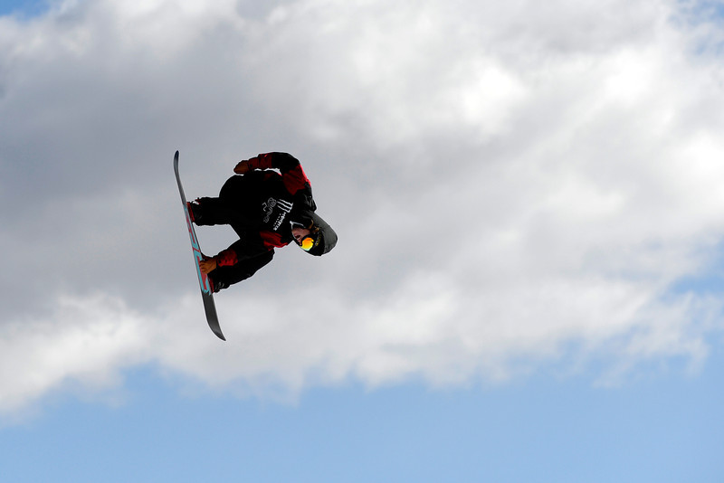 . Torstein Horgmo rides during the men\'s snowboard slopestyle eliminator. X Games Aspen at Buttermilk on Thursday, January 23, 2014. (Photo by AAron Ontiveroz/The Denver Post)