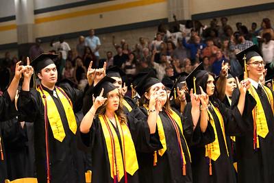 Timpson High School Class of 2019 graduation scenes