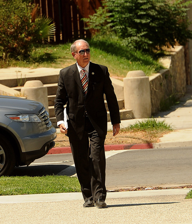 . San Bernardino mayor Patrick Morris arrives to the United States Bankruptcy court in Riverside August 28, 2013.  GABRIEL LUIS ACOSTA/STAFF PHOTOGRAPHER.