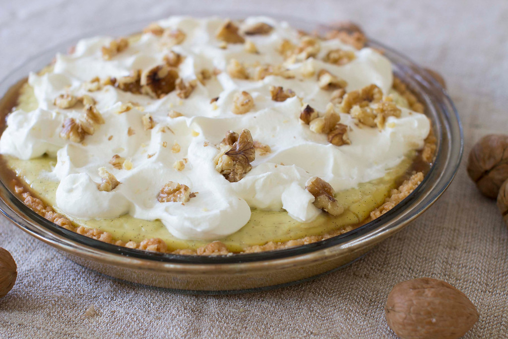""". It is important to assemble this pie only just before serving; the penuche will soften once the custard layer is added. <a href=\""""http://www.news-herald.com/lifestyle/20141114/recipe-penuche-cream-pie\"""">Get the recipe for penuche cream pie</a>. (AP Photo/Matthew Mead)"""