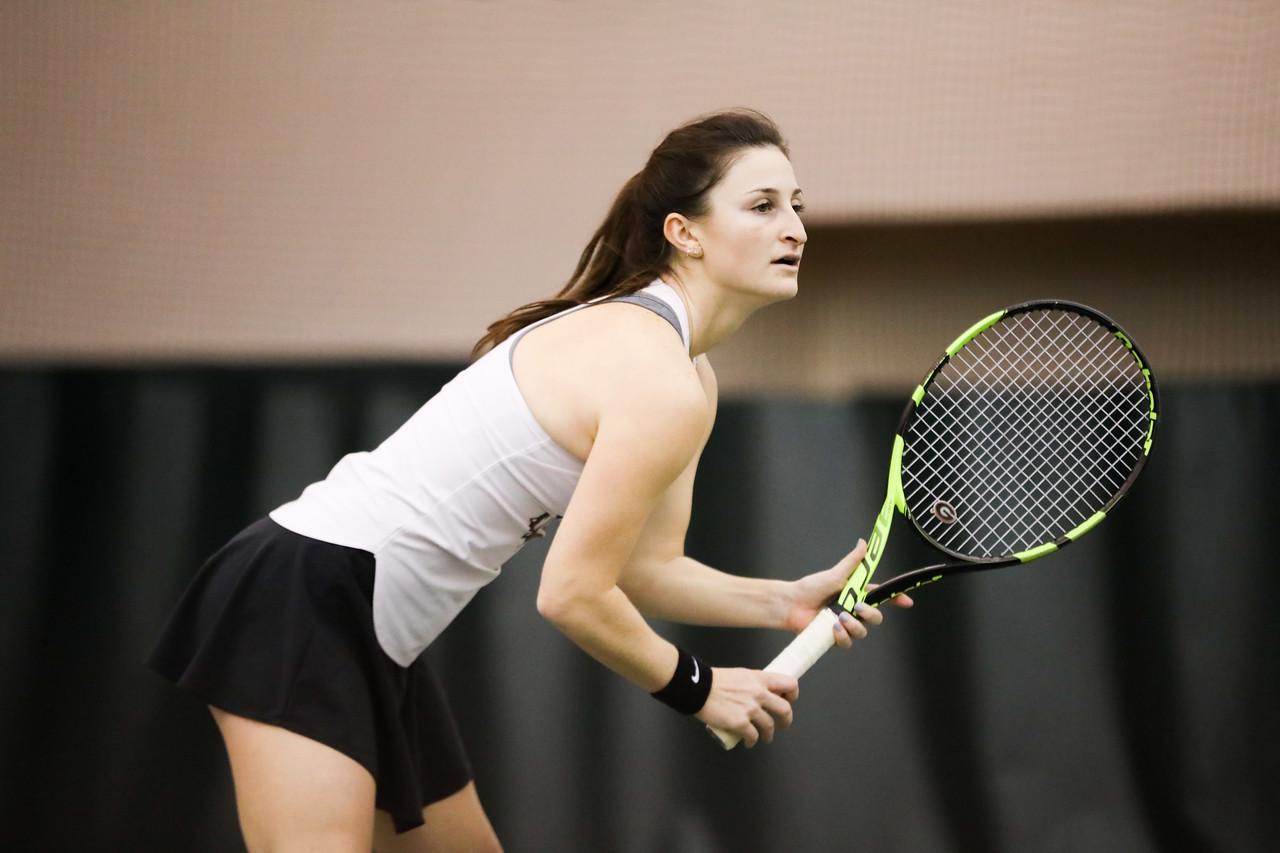 Georgia tennis player Meg Kowalski, sophomore | ITA Kick-Off Weekend | Lindsey Hopkins Indoor Center in Athens, GA | Saturday, January 25, 2020 | (Photo by Tony Walsh)