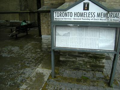 Monthly Homeless Memorial Vigil - June 2013