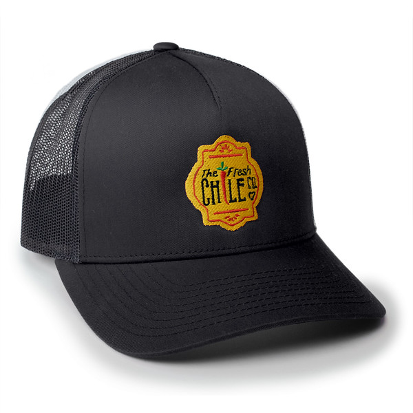 Fresh Chile Company Logo Hat - Trucker Cap - Black.jpg