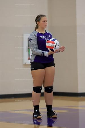 West Bladen 19 Whiteville  volleyball