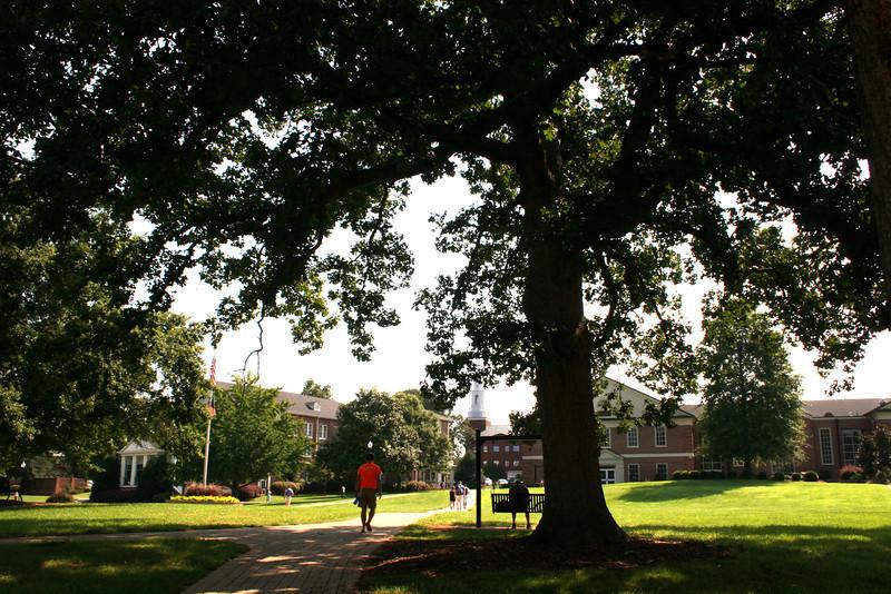 The Gardner-Webb University campus on a summer day.